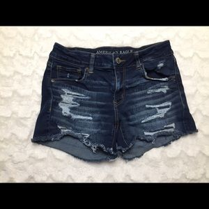 American Eagle High Waisted Destroyed Shorties